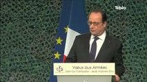 École militaire de Saint-Cyr : Les vœux de François Hollande