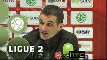 Conférence de presse Valenciennes FC - FC Metz (2-1) : Faruk HADZIBEGIC (VAFC) - Philippe  HINSCHBERGER (FCM) - 2015/2016