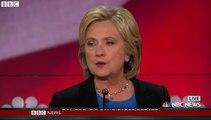 US Democratic debate: Clinton attacks rival over gun controls