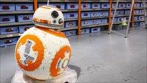 Un fan de Star Wars reproduit le droïde BB-8 en LEGO en taille réelle!