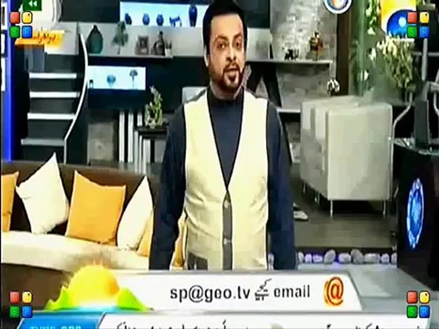 Amir Liaquat Extremely  Talk In Amir Liaquat Extremely Vulgar Talk In Front of Women in Live Front o