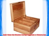 Personalised Lockable Solid Oak Large Wooden Keepsake or Memory Storage Boxes with small mortice
