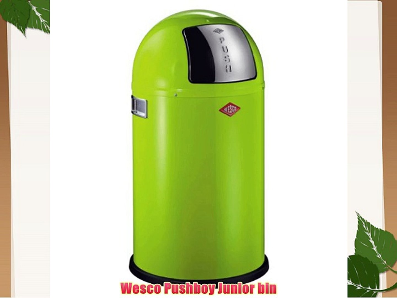 Wesco Pushboy Chroom.Wesco Pushboy Junior 175 531 20 Bin Lime Green