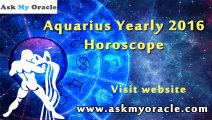 Aquarius Horoscope 2016 Predictions | Aquarius Yearly Love, Career Horoscope