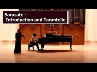 Sarasate-introduction et Tarantelle violin
