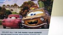 DISNEY PIXAR CARS 2 PARIS TOUR SERIES MATER FINN MCMISSILE JOHN LASSETER