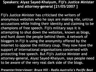 Fiji bloggers Vs. military junta