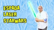 Como Hacer La Espada Láser de Star Wars | How To Make StarWars Lightsaber