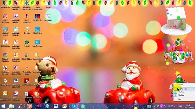 Christmas desktop gadgets on Windows 8.1