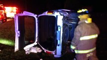 Father Daughter Hospitalized After Rollover Wreck On 76 Late Monday