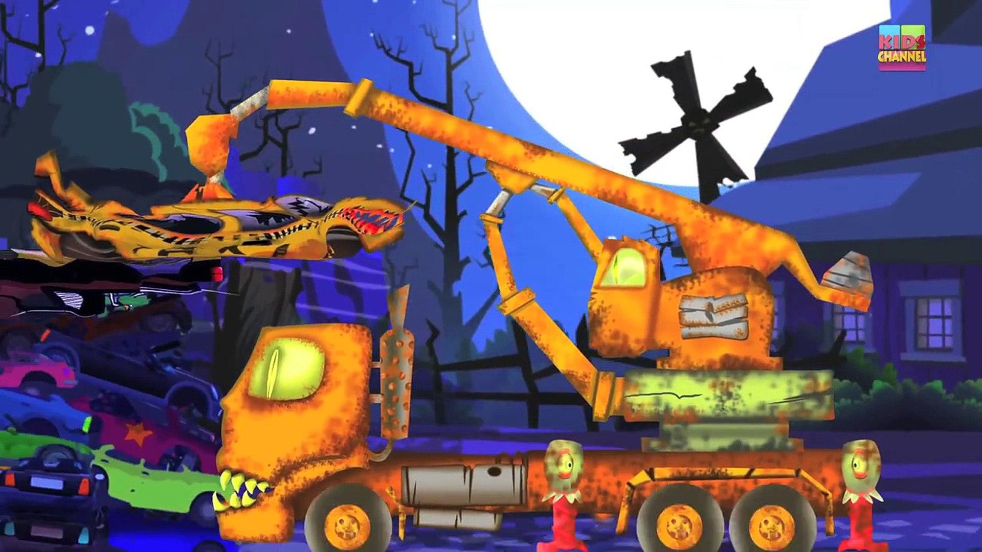 Taxi | Scary Dump Yard | Crusher Machine