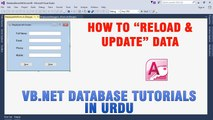 P(4) VB.NET Access Database Tutorial In Urdu - How to Reload and Update Data