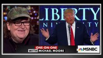 Michael Moore says Bill Clinton and Hillary Clinton fought over who was his number one fan