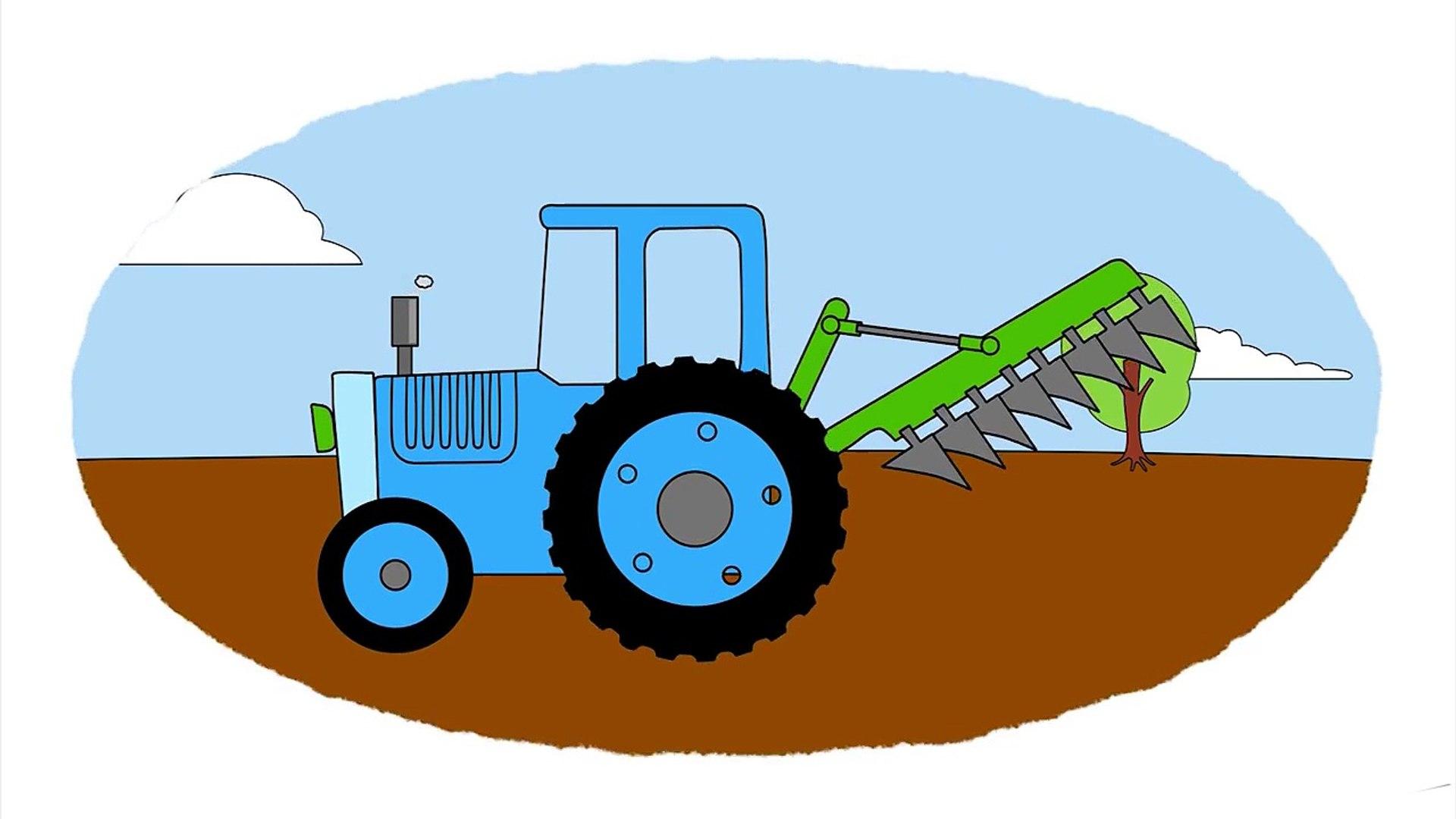 Zeichentrick Malbuch Kran Schaufelbagger Traktor