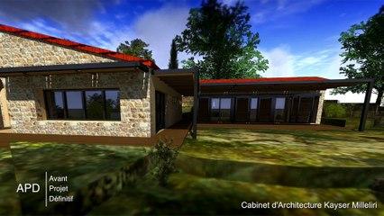 Réhabilitation Rénovation Agrandissement et Extension Contemporaine Ecologique Bio Climatique & BBC d'une maison Corse