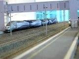 Passage de TGV gare Champagne Ardenne TGV