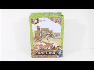 마인크래프트 페이퍼크래프트 - Minecraft Papercraft Shelter Pack