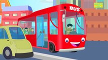 Wheels on the bus goes round and round | Kids Songs And Nursery rhymes with lyrics for chi