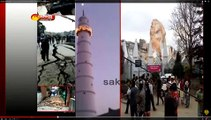 Dharahara tower is an Islamic minaret with statue of Hindu deity Shiva on top of the tower collapses