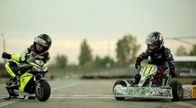A seulement 2 ans il pilote déjà une moto !