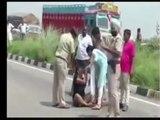 Desi Girl Blocks Delhi Chandigarh Highway