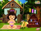 Малышка Хазел Cute Dora Bathing Game New Dora Fun Baby Bathing for Little Girls Малышка Хазел 2
