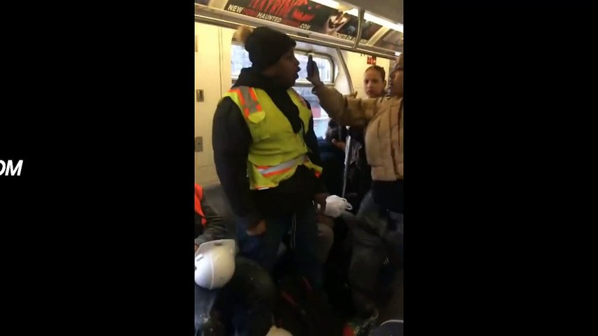 Woman Gets Her Boyfriend Beat Up After Spitting on Another Man Inside a New York Subway