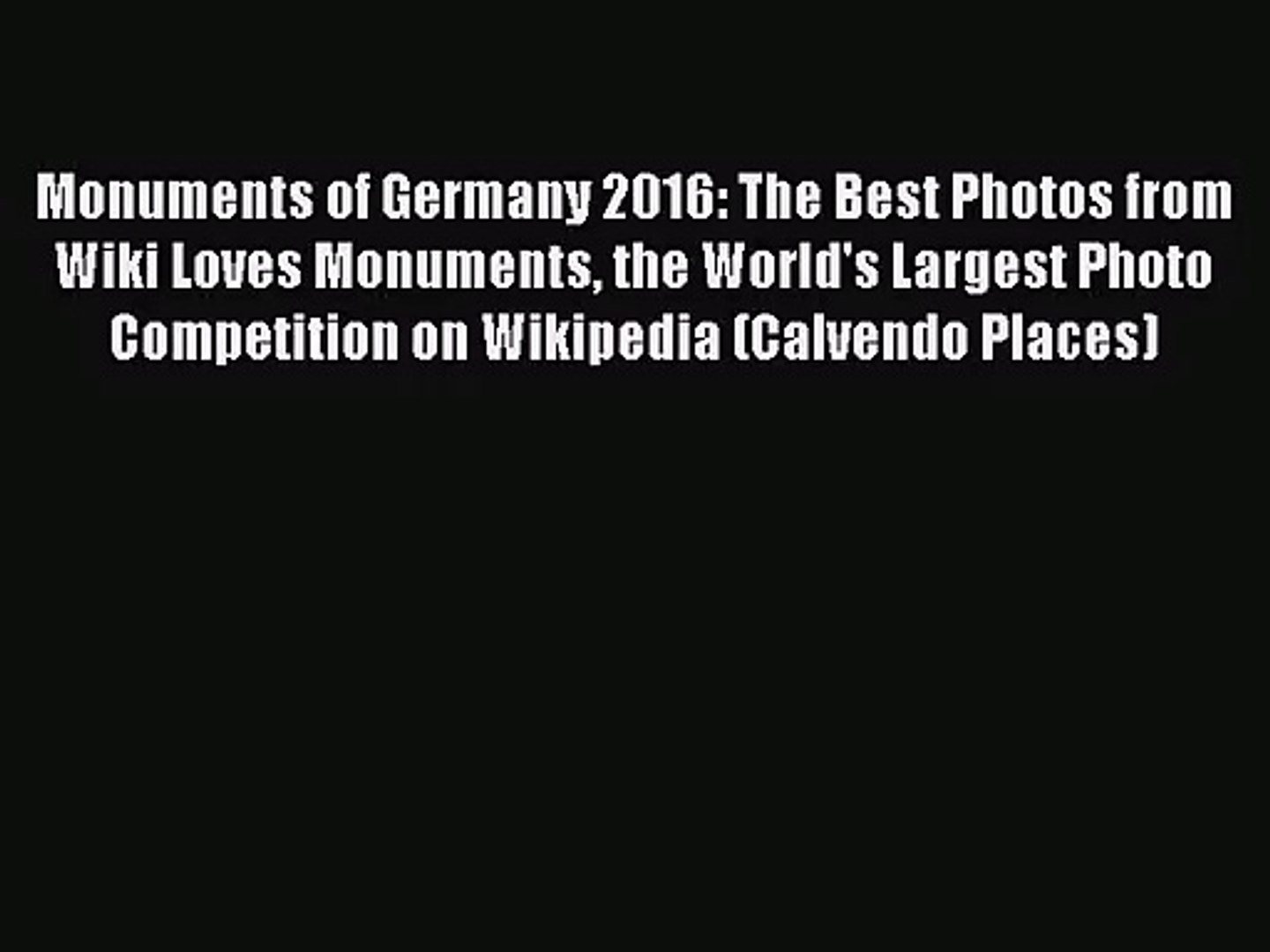 PDF Download - Monuments of Germany 2016: The Best Photos from Wiki Loves  Monuments the World's