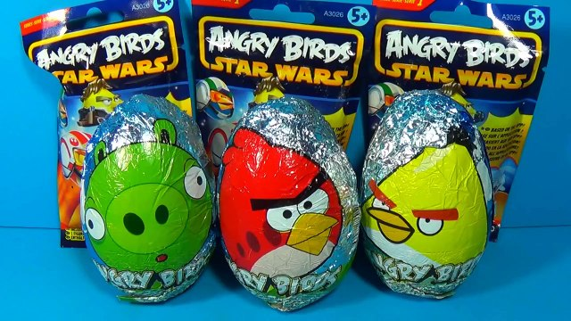 ANGRY BIRDS surprise eggs Angry Birds STAR WARS surprise Luke Skywalker ANGRY BIRDS!