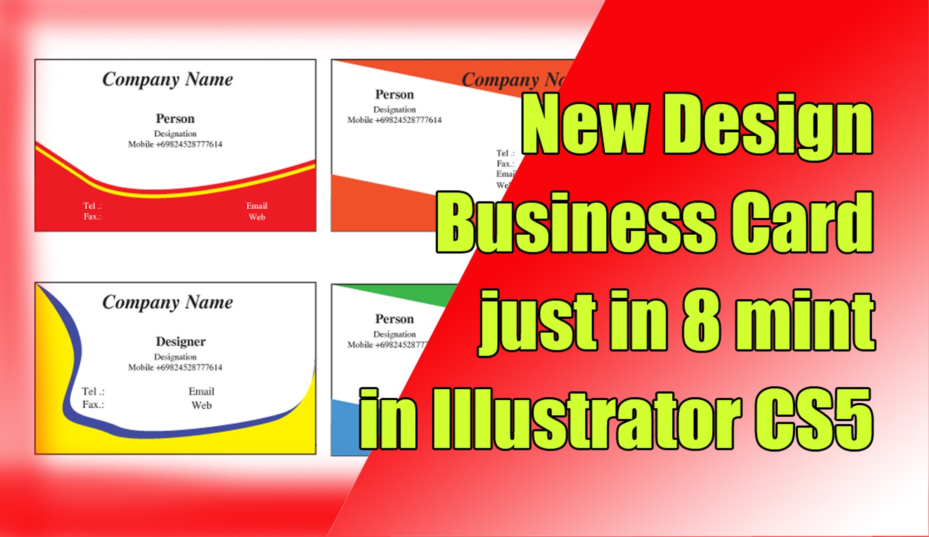 How to Make Business Card Design In Adobe Illustrator Cs5