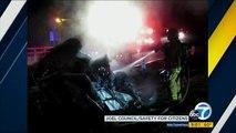 Jamie Foxx sauve un homme coincé dans sa voiture en feu
