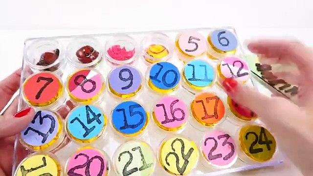 Surprise Toys ADVENT CALENDAR DisneyCarToys 24 Days of Christmas Barbie Lego Shopkins Polly Pocket