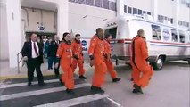 Astronauts Arrive at Launch Pad of Space Shuttle Discovery STS-133