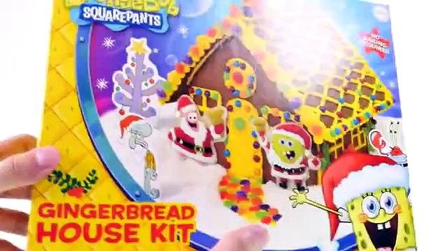 Spongebob + Patrick Gingerbread House Kit --- Gummy Spongebob Squarepants Edible Candy Craft
