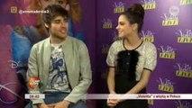 entrevista a Jorge Blanco y Martina Stoessel en Polonia por TVN