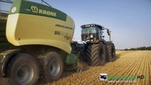 BLACK CLAAS Xerion 4500 | KRONE BiG Pack HDP2 | Baling Press | Stroh pressen | Agrartechni