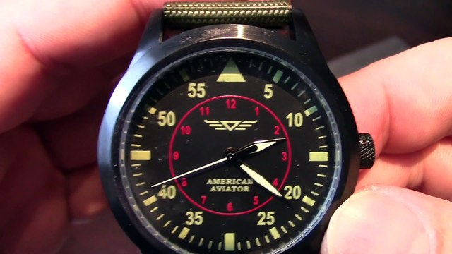 As Seen On TV American Aviator commemorative WWII pilot numbered edition watch