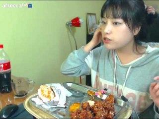 터민 닭강정+치킨버거 먹방