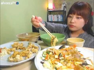 터민 양장피+탕수육+칼국수 먹방