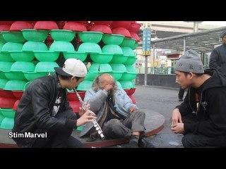 Make The Homeless Smile using Flute + Beatbox