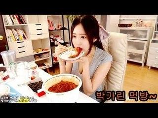 박가린님♥ 먹방♨ 엽기떡볶이+주먹밥