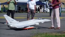 Agile performance R/C Scale Jet Eurofighter Typhoon with Canard and fuel Tanks Payerne Air Show 201