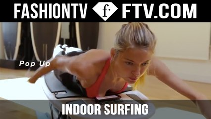 Indoor Surfing With An Angel - Victoria's Secret | FTV.com