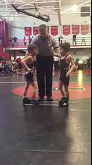 Kid Loses Wrestling Match to Twin Brother