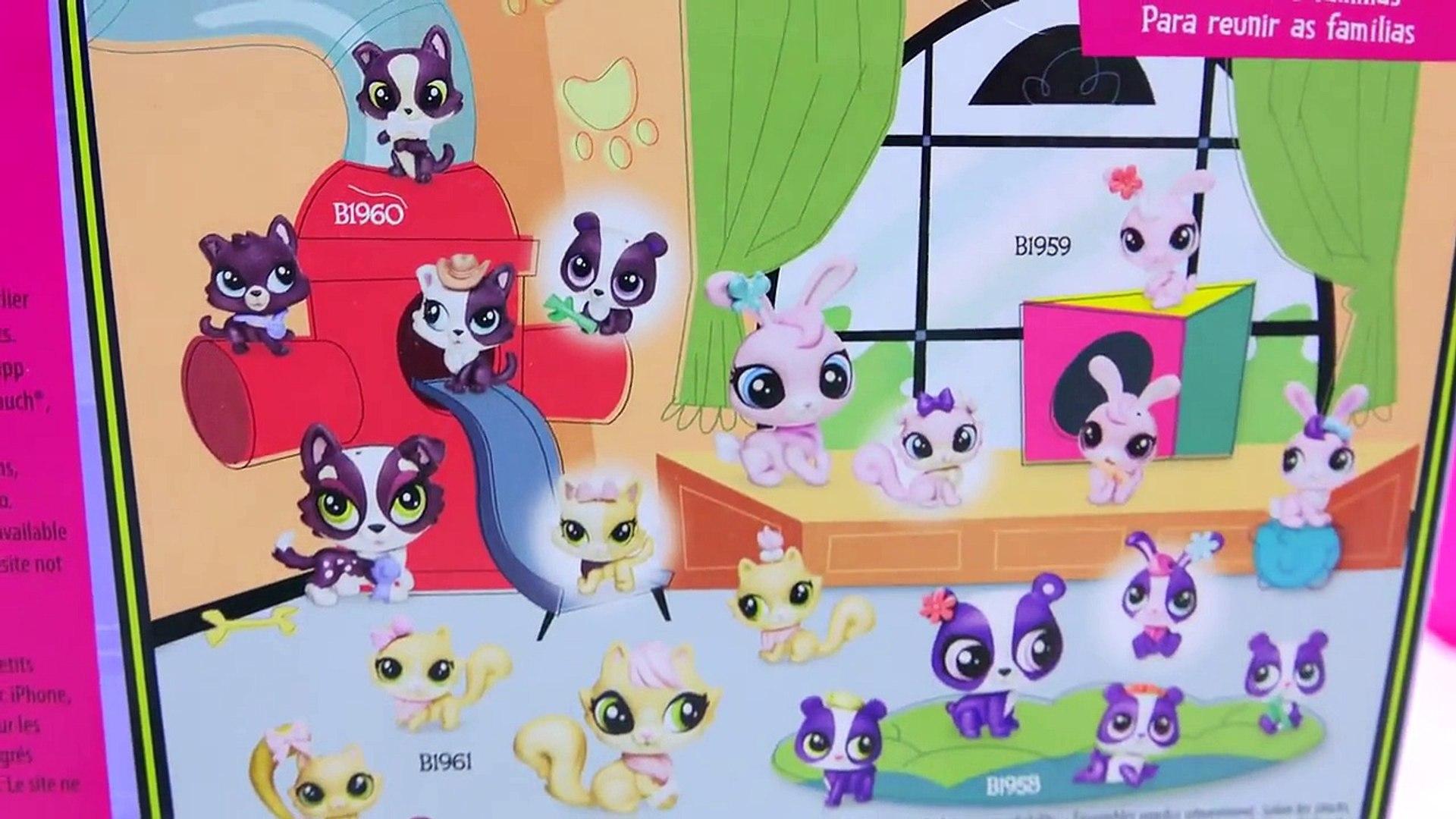 Littlest Pet Shop Kitty Cat Mom and Kitten Babies Surprise Families Playset V