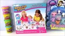 Rose Art Magic Fun Dough Pet Shop Playset! Littlest Pet Shop Fashems Play Doh Fun! LPS