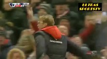 Jurgen Klopp Liverpool Celebration/reaction with fans after Equaliser goal Liverpool v Wes