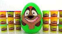 The Lion Guard Giant Play Doh Surprise Egg with The Lion King McDonalds Happy Meal Kids Toys 2004