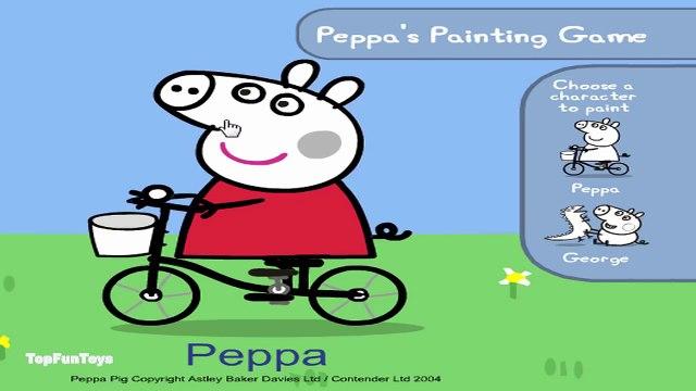 George Pig da Família Peppa Pig Painting - Peppa Pig Coloring Pages - Peppa Pig Painting Games