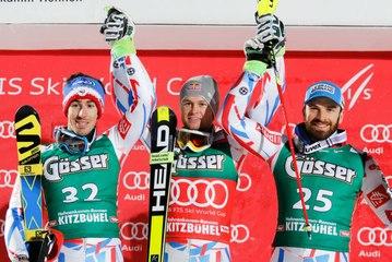 Ski Alpin - Kitzbühel - Le podium 100% Français